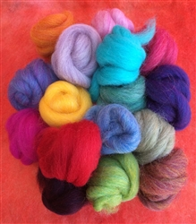 PacaFluff Wool Roving, Multi-Color--Small