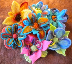 Bloomin' Brites Needlefelted Flowers