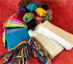 Felting Material Classroom Kit--Bookmark strips