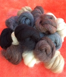 PacaFluff Wool Roving--Natural Colors--Small